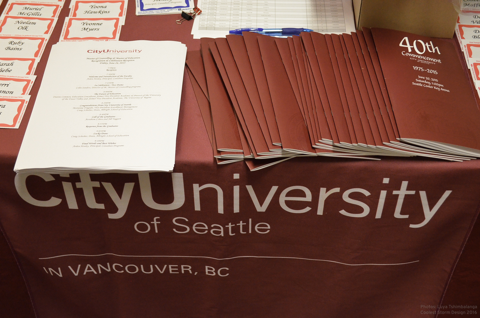 Ready for the graduation in City University in Vancouver BC